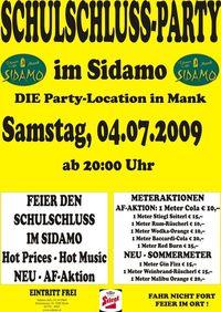 Schulschluss - Party im Sidamo@Cafe Sidamo Mank