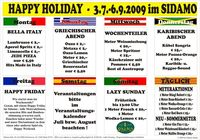 Happy Holiday - Bella Italy im Sidamo@Cafe Sidamo Mank