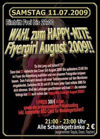 Wahl zum Happy Nite Flyergirl Juli 2009