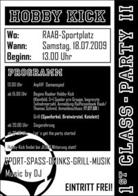 Hobby-Kick@Clubheim Union Raab