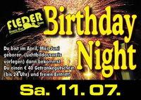 Birthday Night mit 40,- Euro Getränkegutschein!
