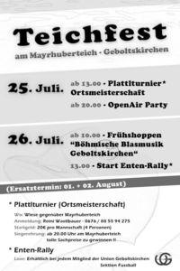 Teichfest Geboltskirchen@Mayrhuber Teich