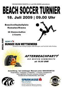 Beachsoccertunier 2009@Beachvolleyballplatz