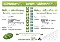 Hobby-Beachvolleyball-Turnier Kürnberg@Sportanlage Kürnberg
