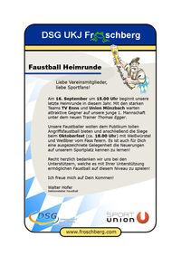 Oktoberfest der Faustballer@Sportplatz Holzheim