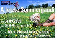 A letzte Sommergaudi 2009 der Pfadfinder Leonding@Dorfstadl Rufling