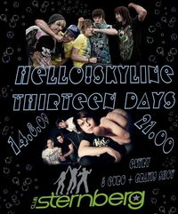 Hello!Skyline & Thirteen Days live @ Sternberg@Sternberg