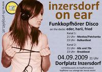 inzersdorf on ear - Funkkopfhörer Disco@Dorfplatz Inzersdorf