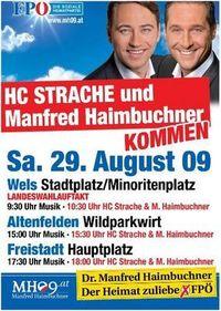 Gruppenavatar von HC Strache On Tour 2009- Wir sind wieder dabei! 29.August-Wels/Altenfelden/Freistadt