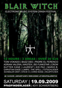 Blair Witch - Electronic Music System Crash Festival@Pfadfinderlager