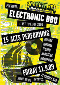 "Groovement presents ""Electronic BBQ""@Gamble Bar"