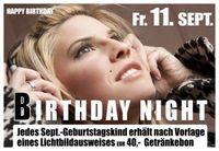 Birthday Night im September