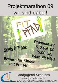 Projektmarathonpräsentation LJ Scheibbs@Fit-Pfad Scheibbs am Burgerhof