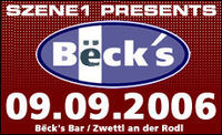 Szene1 presents Beck's Bar