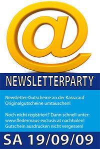 Newsletterparty @Fledermaus