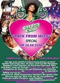 Garden Club Back From Ibiza