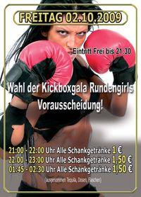Wahl der Kickboxgala Rundengirls Vorausscheidung