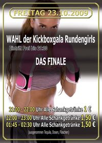 Wahl der Kickboxgala Rundengirls - Das Finale
