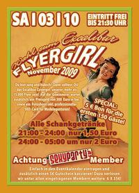 Wahl zum Excalibur Flyergirl November 2009@Excalibur