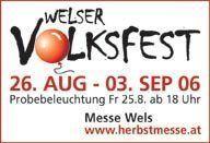 Welser Volksfest - Probebeleuchtung@Messegelände