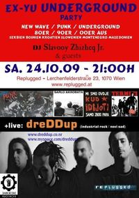 Ex-Yu Underground Party + live: dreDDup (Novi Sad)@Replugged