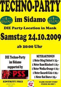 Techno-Party im Sidamo@Cafe Sidamo Mank