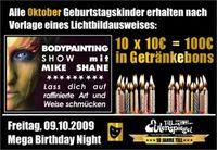 Mega Birhtday Night mit Bodypainting