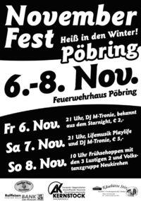 Novemberfest @Feuerwehrhaus Pöbring