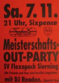 Meisterschafts-out Party@Sixpence