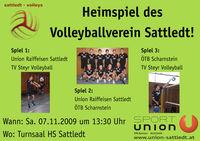 Volleyballheimspiel - sattledt-volleys@Turnsaal der Hauptschule Sattledt