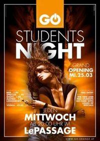 Go Students Night@Le Passage