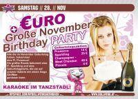 €uro + Große November Birthday Party@Bollwerk