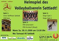 Volleyball CUP-Spiel@Turnsaal HS Sattledt