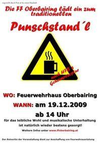 Punschstandl@Feuerwehrhaus Oberbairing