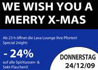 We wish you a Merry X-Mas