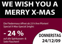 We wish you a Merry X-Mas