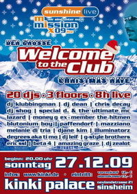 Welcome to the Club - Christmas Rave@Club Diskothek Kinki Palace