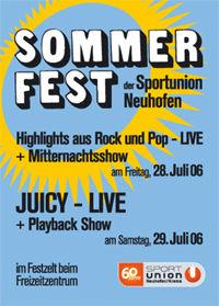 Sommerfest der Sportunion Neuhofen@Zelt/Freizeitzentrum