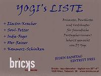 Yogi's Liste@Bricks - lazy dancebar