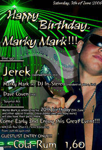 Happy Birthday, Marky Mark!!!@WM Cafe Rox / Plan C