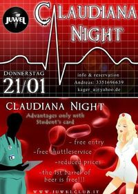 Claudiana Night@Juwel Club