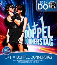 1 + 1= Doppel Donnerstag