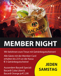Member Night@Lava Lounge Linz