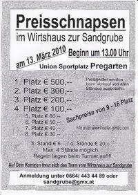 Preisschnapsen@Wirtshaus zur Sandgrube