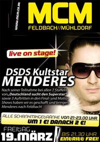 DSDS Superstar Menderes live!@MCM  Feldbach