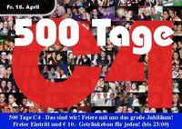 Jubiläumsparty: 500 Tage C4
