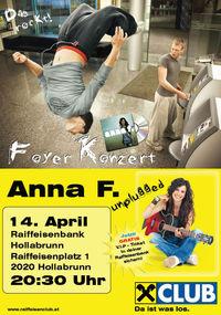 Anna F. unplugged Live-Konzert@Raiffeisen Bank Hollabrunn