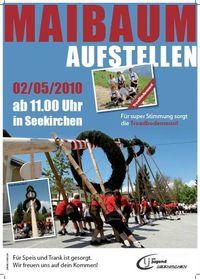 Maibaumaufstellen@Farberparkplatz in Seekirchen