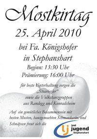 Mostkirtag der LJ Stephanshart@Fam. Königshofer