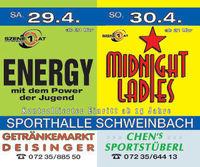 Hallenfest Schweinbach mit Midnight Ladies@Sporthalle Schweinbach